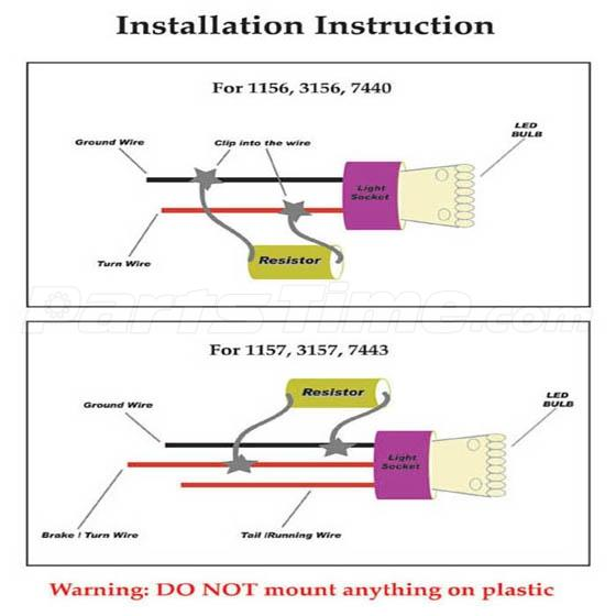 wiring diagram for led load resistors wiring image 2x load resistor 50w 6 ohm fix led bulb hyper flash turn signal on wiring diagram