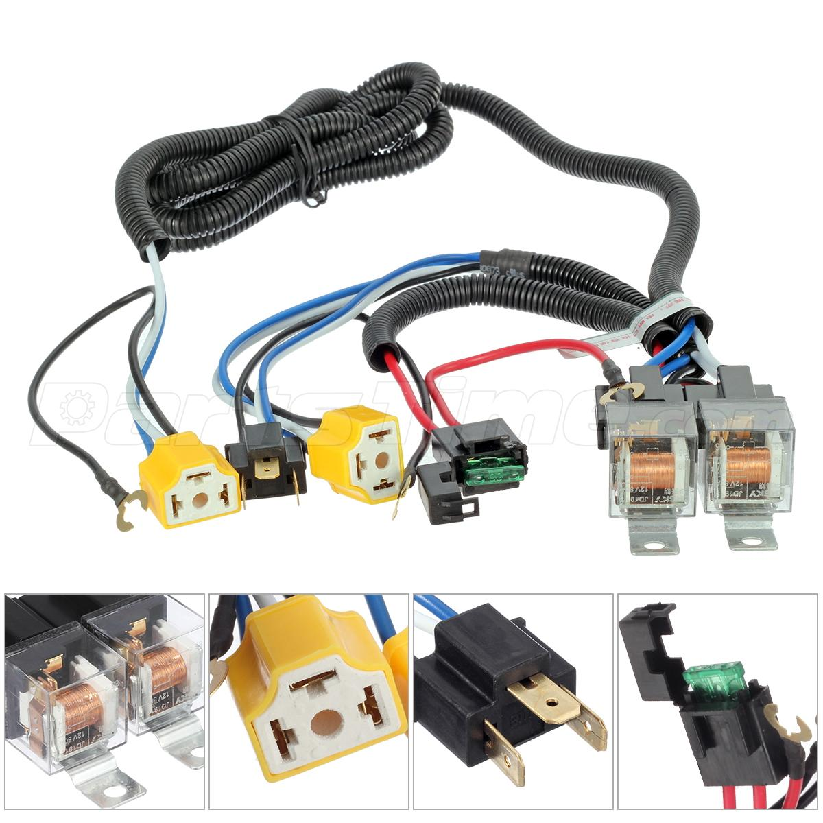 ceramic h headlight relay wiring harness headlamp light bulb ceramic h4 headlight relay wiring harness 2 headlamp light bulb socket plugs 7