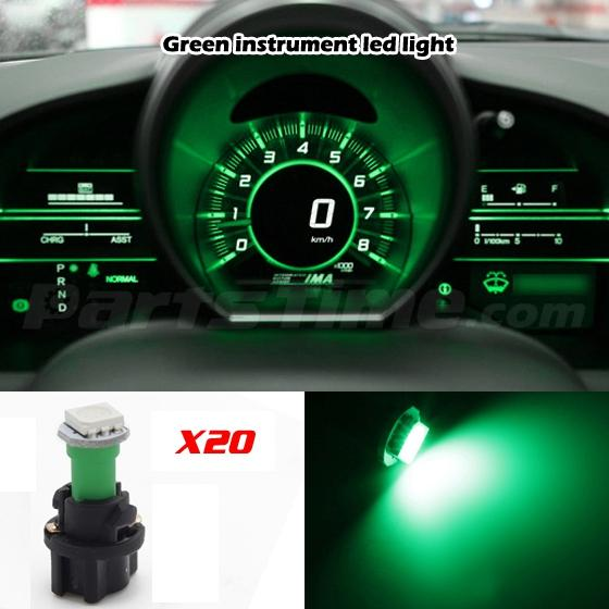 60x T5 74 Led Dashboard Speedometer Gauge Indicator Light: 20 T5 PC74 Twist Socket Instrument Panel Gauge Cluster