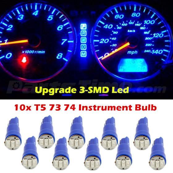 60x T5 74 Led Dashboard Speedometer Gauge Indicator Light: 10x T5 Blue Instrument Gauge Cluster 37 73 74 17 3-SMD