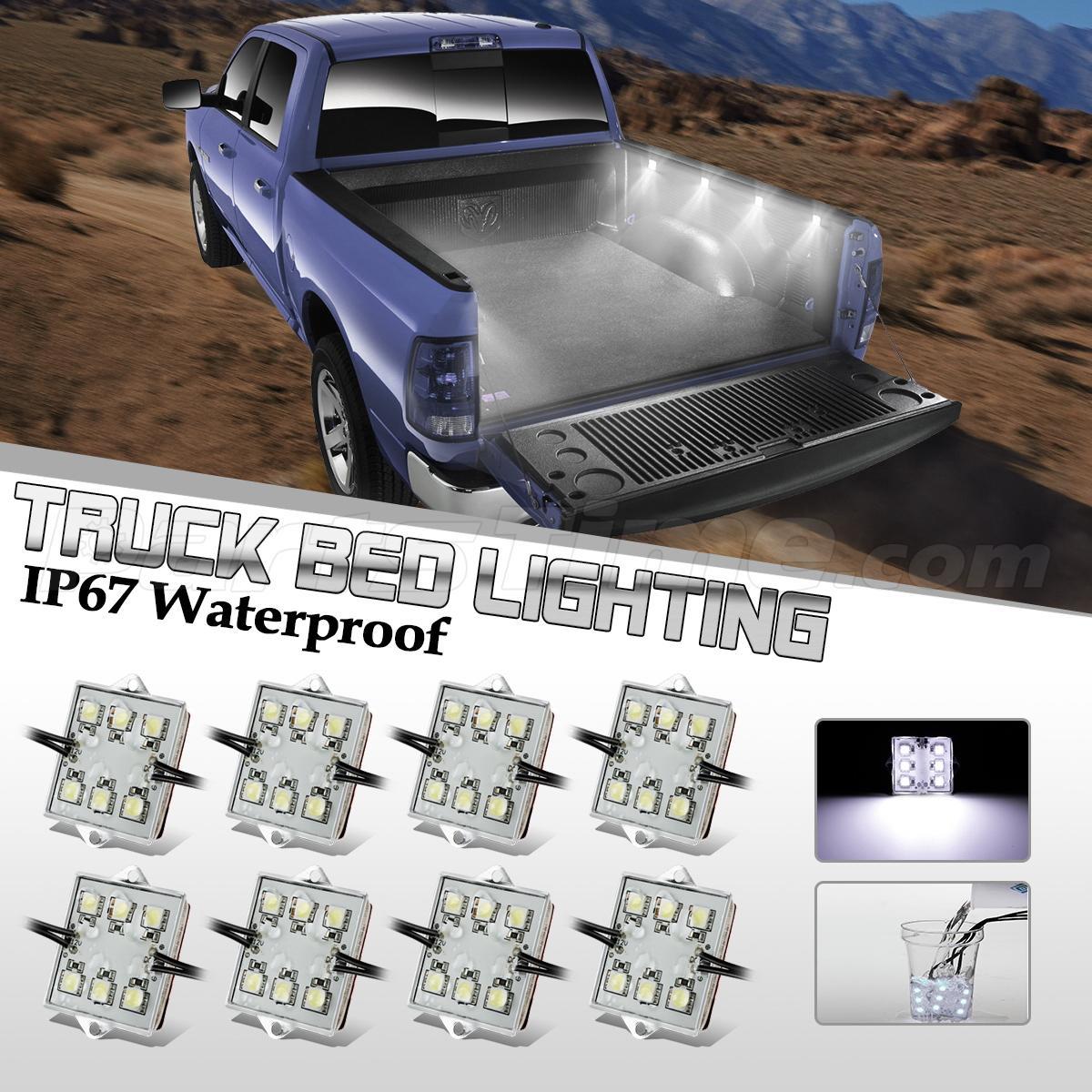 LED Truck Bed/Rear Work Box Lighting Kit Trunk Light For