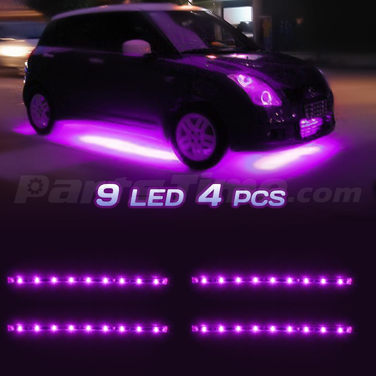waterproof 36 led car strip under light neon footwell flexible interior pink 12v ebay. Black Bedroom Furniture Sets. Home Design Ideas