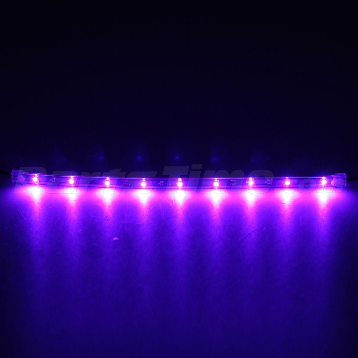 car interior floor under dash board illumination led light lamp strip purple ebay. Black Bedroom Furniture Sets. Home Design Ideas