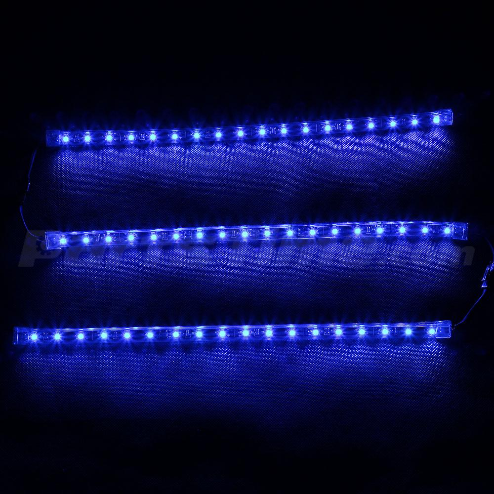 12v New 18pcs 3528 Led Underglow Truck Car Neon Light Strip Kit Blue Plug N Play Ebay