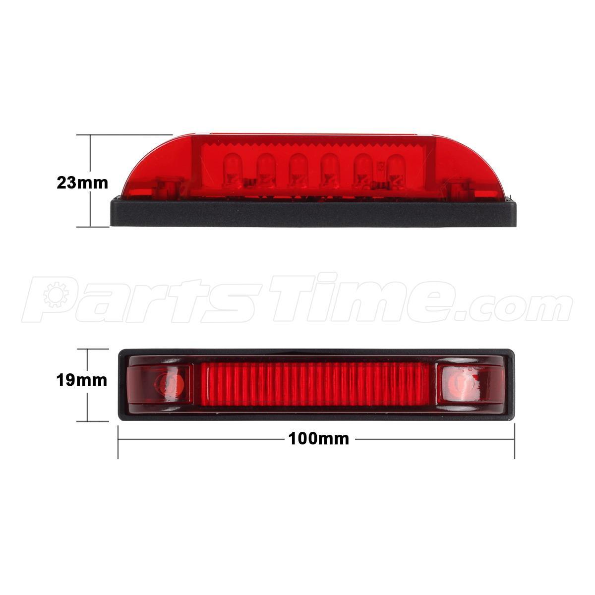 5x 4 utility strip light bar led marker light 12v truck. Black Bedroom Furniture Sets. Home Design Ideas
