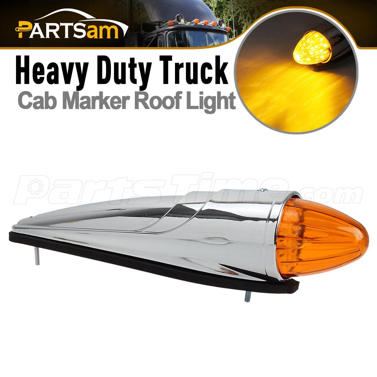 universal 17 led amber torpedo cab roof top marker light. Black Bedroom Furniture Sets. Home Design Ideas